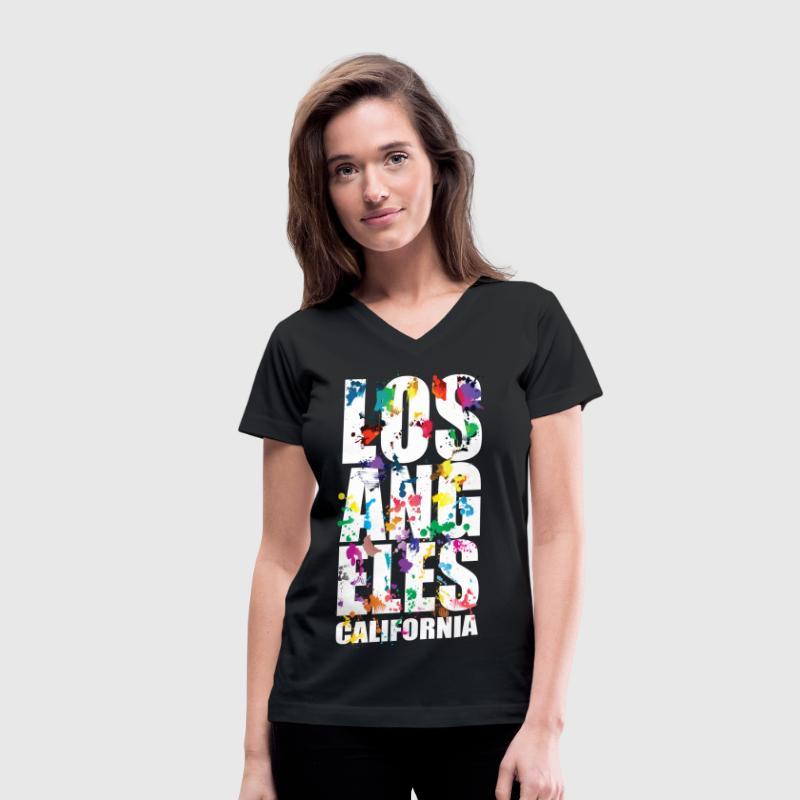 Los angeles city air brush t shirt spreadshirt for Los angeles california shirt