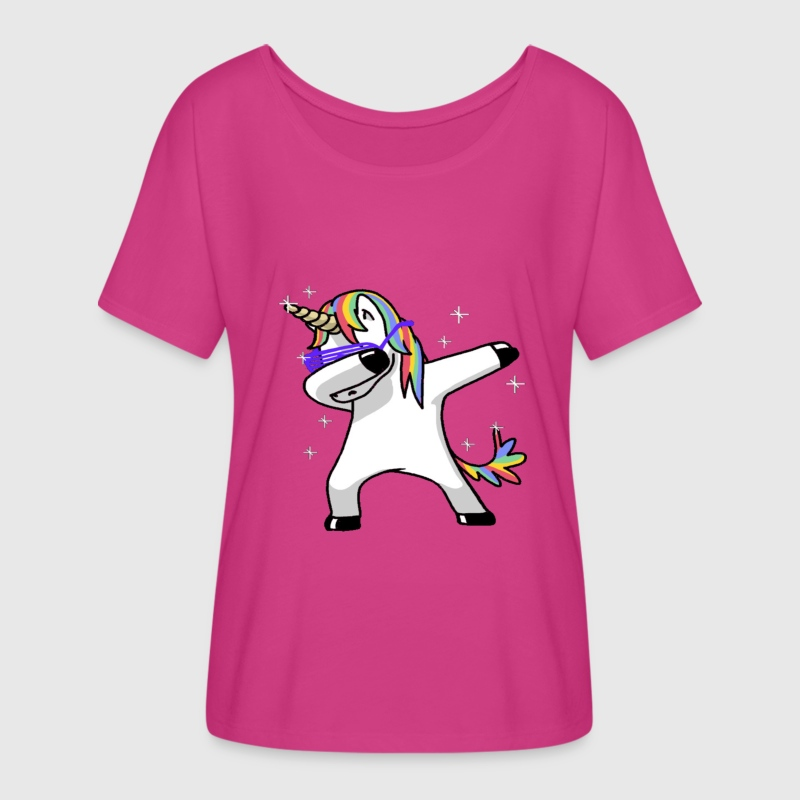 Dabbing Unicorn T-Shirts - Women's Flowy T-Shirt