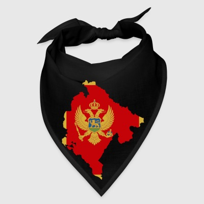 Montenegro Flag Map Bags & backpacks - Bandana