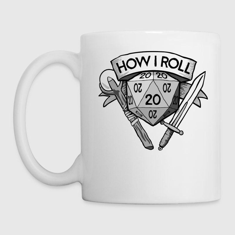 How I Roll d20 Dungeons & Dragons - Coffee/Tea Mug