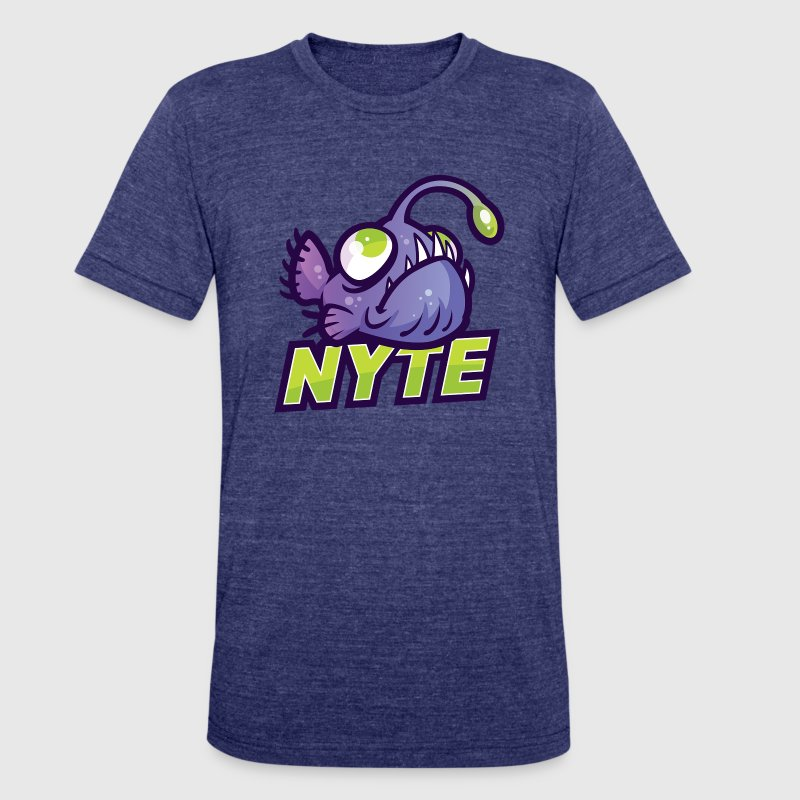 NICKATNYTE NYTE FISH 2 T-Shirts - Unisex Tri-Blend T-Shirt by American Apparel