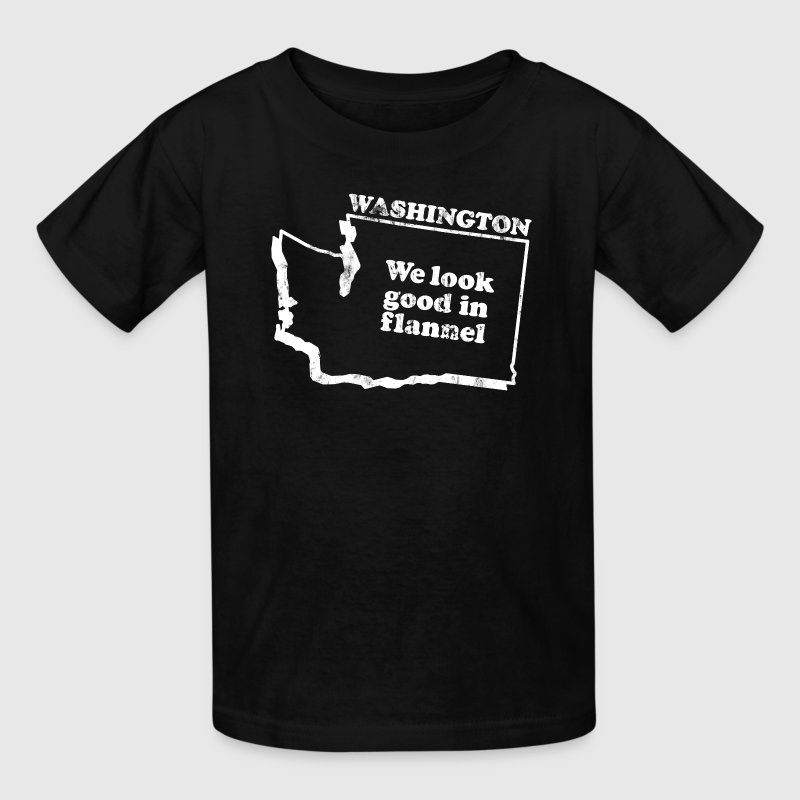 WASHINGTON STATE SLOGAN Kids' Shirts - Kids' T-Shirt
