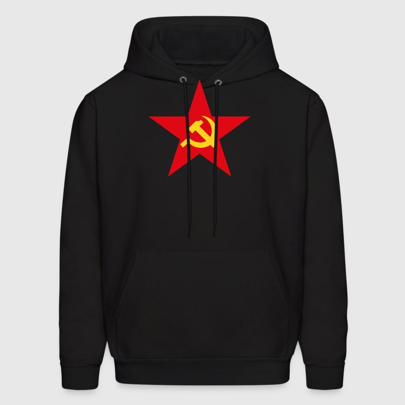 Communist Flag Star Hammer & Sickle - Men's Hoodie
