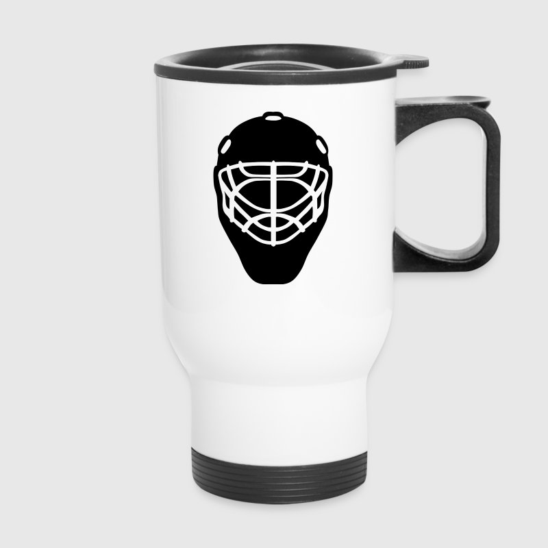 Hockey Goalie Helmet Mugs & Drinkware - Travel Mug