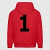 Team letter one 1 - Men's Hoodie