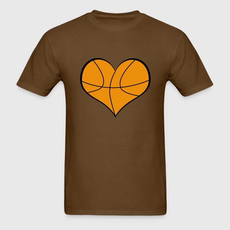 Men's Basketball Heart T-Shirt - Men's T-Shirt
