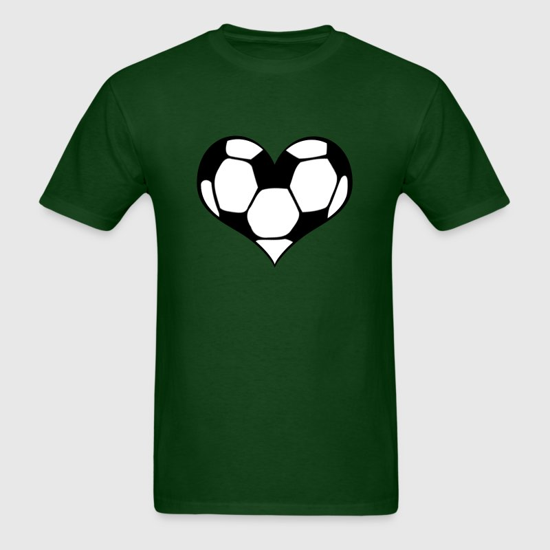 Men's Soccer Heart T-Shirt - Men's T-Shirt