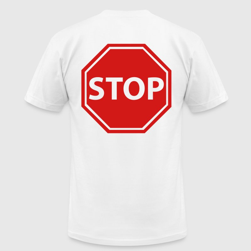 Stop sign - Men's Fine Jersey T-Shirt