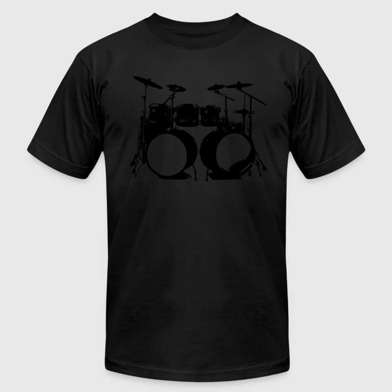 Drumms, Drummer, Snare, Hi Hat, Drumset T-Shirts - Men's T-Shirt by American Apparel