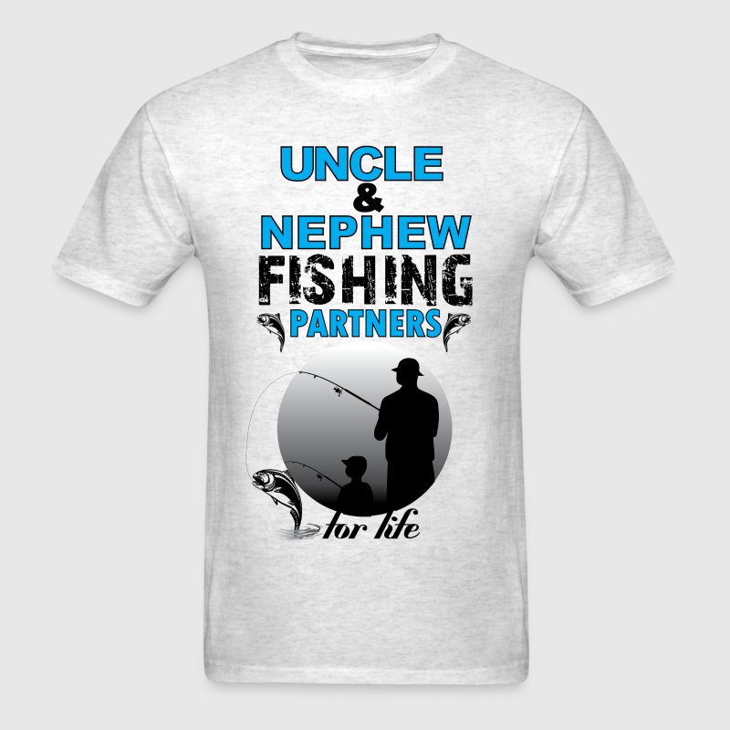 Uncle & Nephew Fishing Partners For Life T-Shirts - Men's T-Shirt