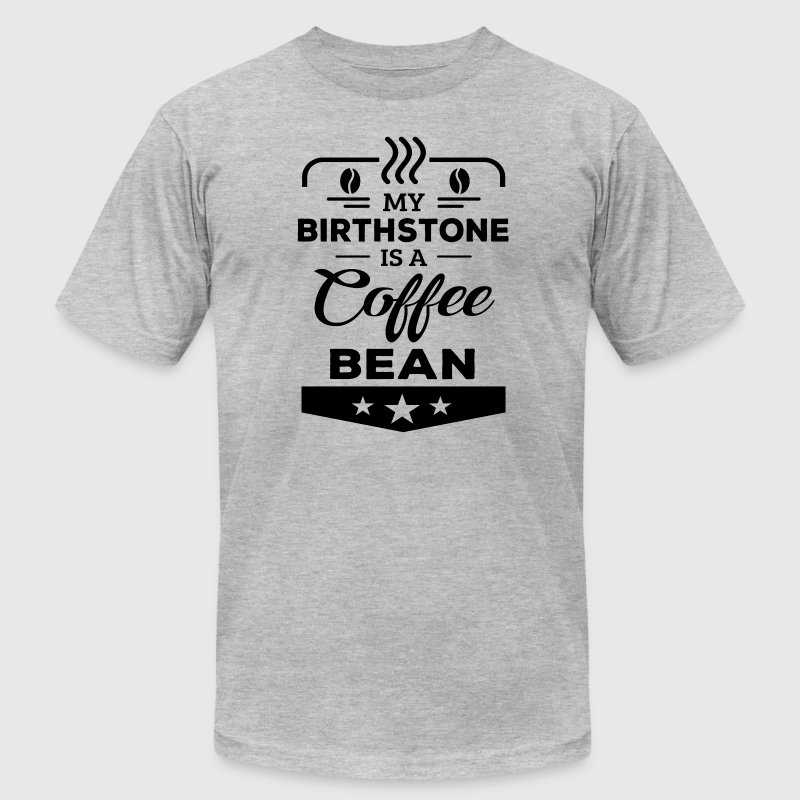 Birthstone Coffee Bean T-Shirts - Men's T-Shirt by American Apparel