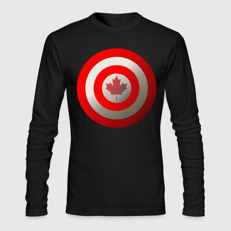 Captain Canada Long Sleeve Shirts - Men's Long Sleeve T-Shirt by Next Level