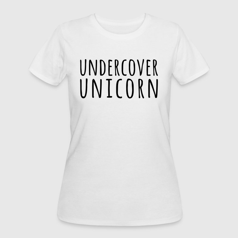 Undercover Unicorn Funny Quote T-Shirts - Women's 50/50 T-Shirt