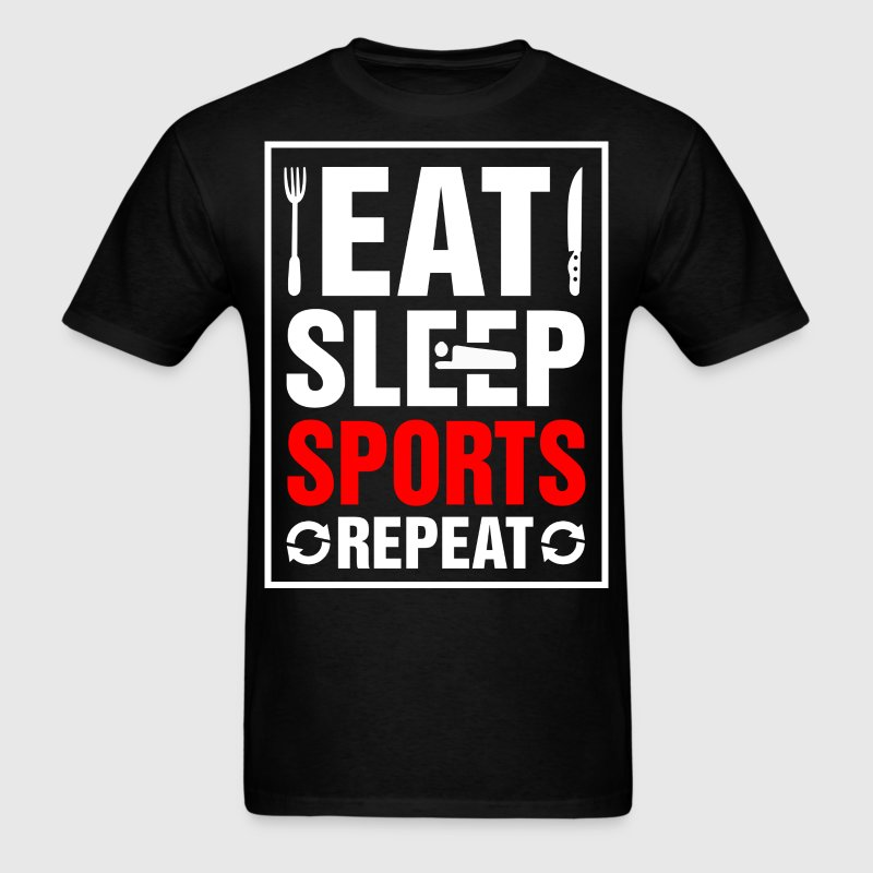 Eat Sleep Sports Repeat - Men's T-Shirt