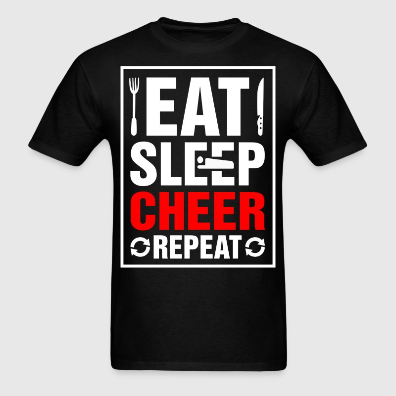 Eat Sleep Cheer Repeat - Men's T-Shirt