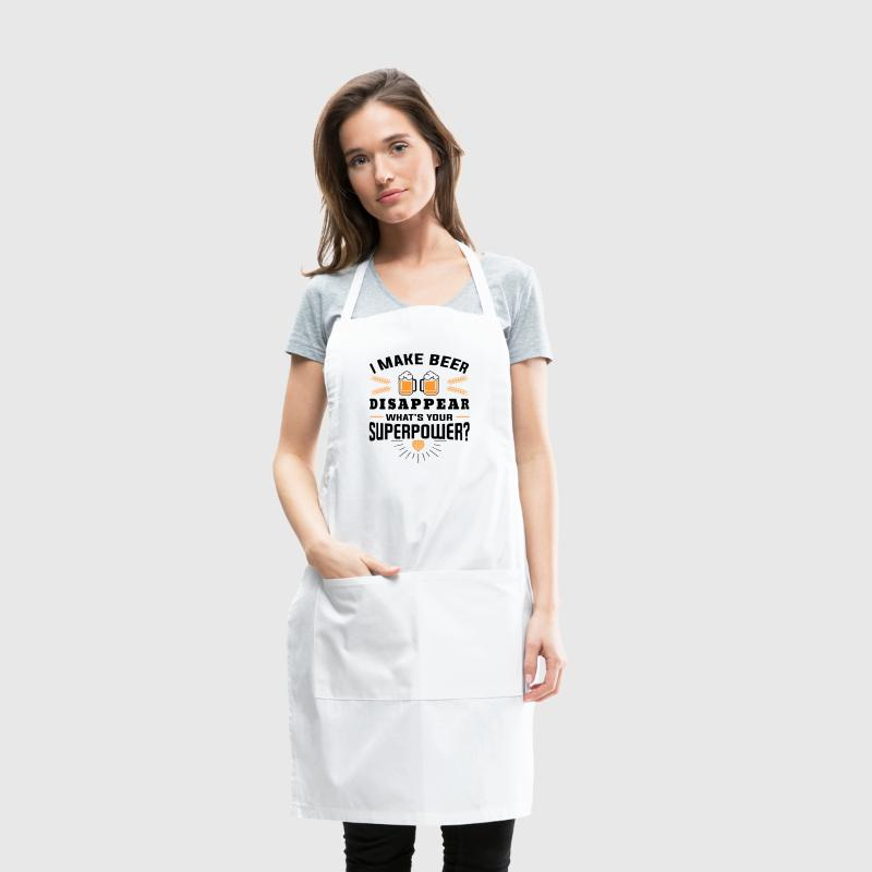 I make beer disappear what´s your superpower? Aprons - Adjustable Apron
