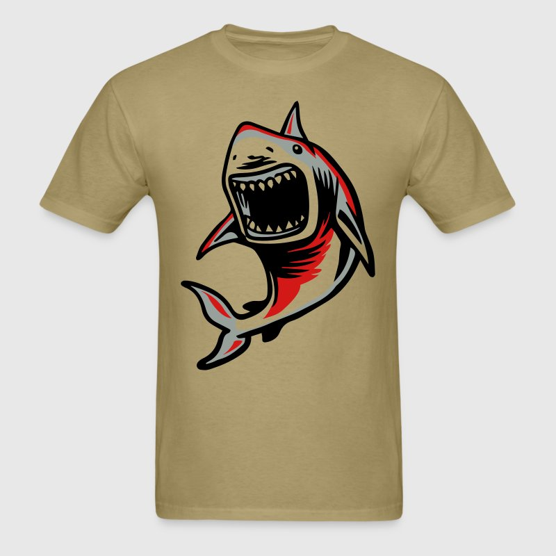 Angry Great White Shark Mouth T-Shirt | Spreadshirt