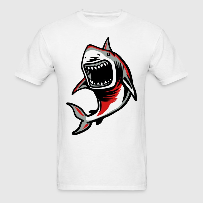 Angry Great White Shark Mouth T-Shirts - Men's T-Shirt