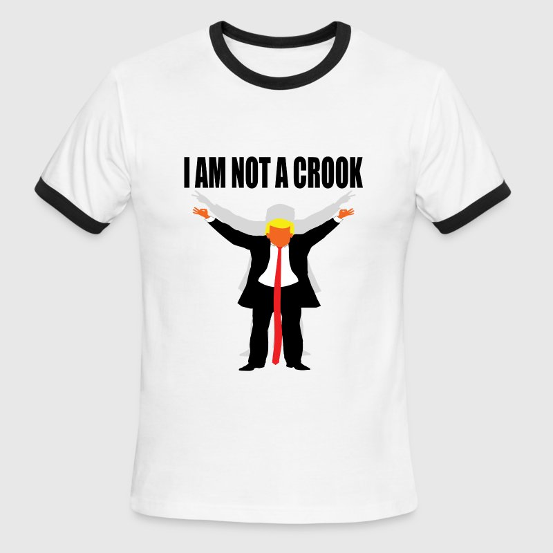 I am not a crook trump nixon T-Shirts - Men's Ringer T-Shirt