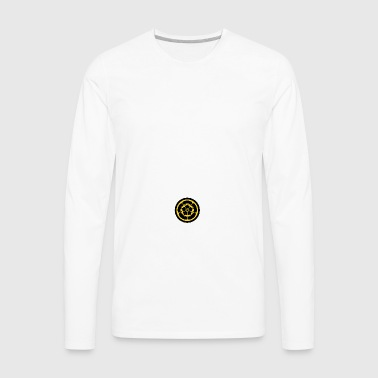 Oda Mon Japanese samurai clan yellow on black Mugs & Drinkware - Men's Premium Long Sleeve T-Shirt