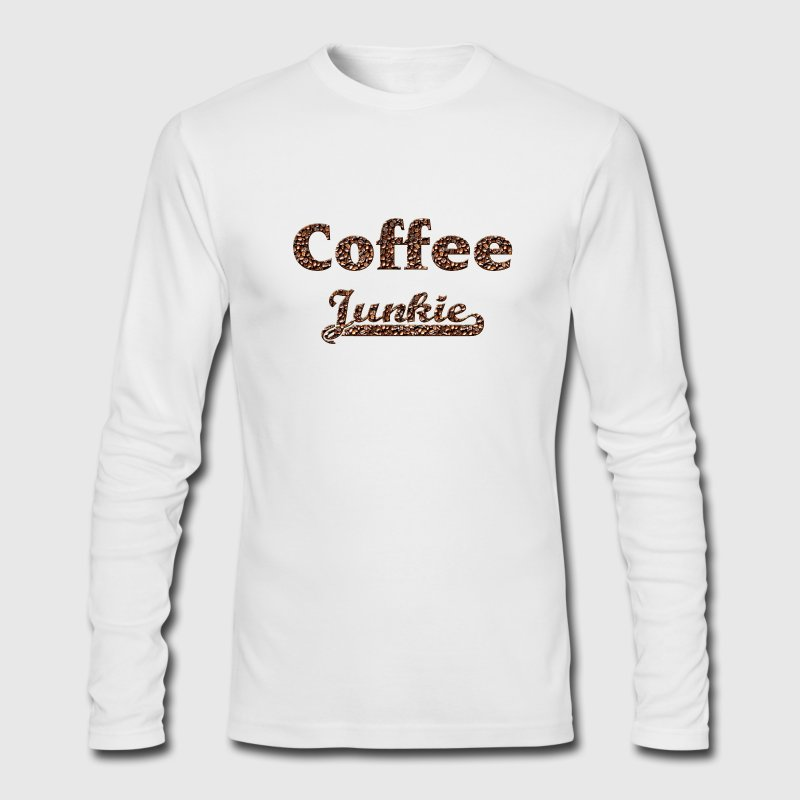 coffee junkie Long Sleeve Shirts - Men's Long Sleeve T-Shirt by Next Level
