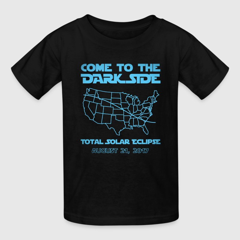 Come To The Dark Side Total Solar Eclipse  - Kids' T-Shirt