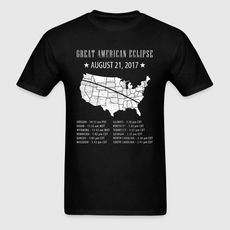Great American Eclipse States Times T-Shirts - Men's T-Shirt