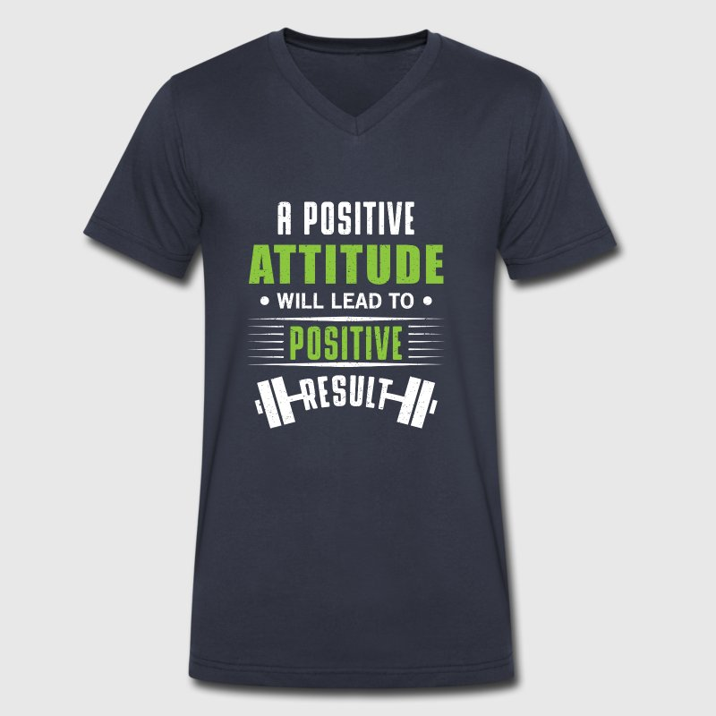 Positive attitude T-Shirts - Men's V-Neck T-Shirt by Canvas