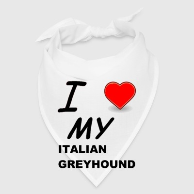 italian greyhound love - Bandana