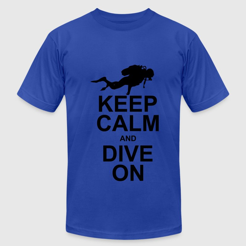 Keep Calm and Dive On (KCDO) T-Shirts - Men's T-Shirt by American Apparel