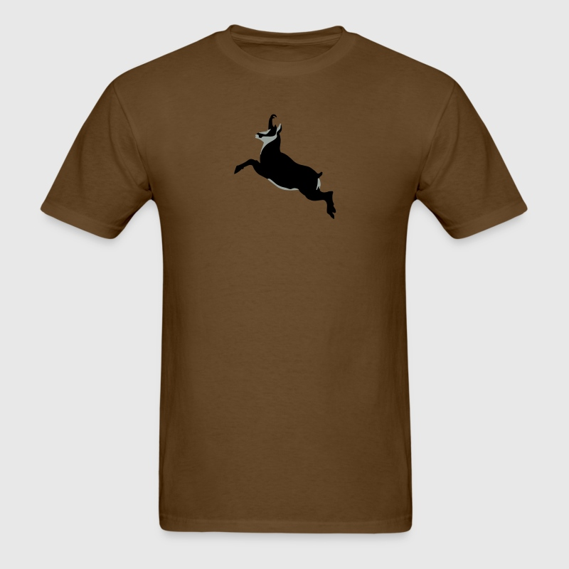 Mountaingoat Chamois Gemse jumping T-Shirts - Men's T-Shirt