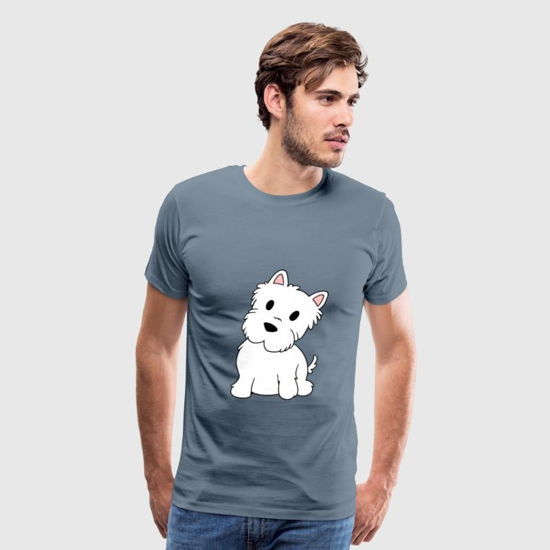 west highland white terrier cartoon - Men's Premium T-Shirt