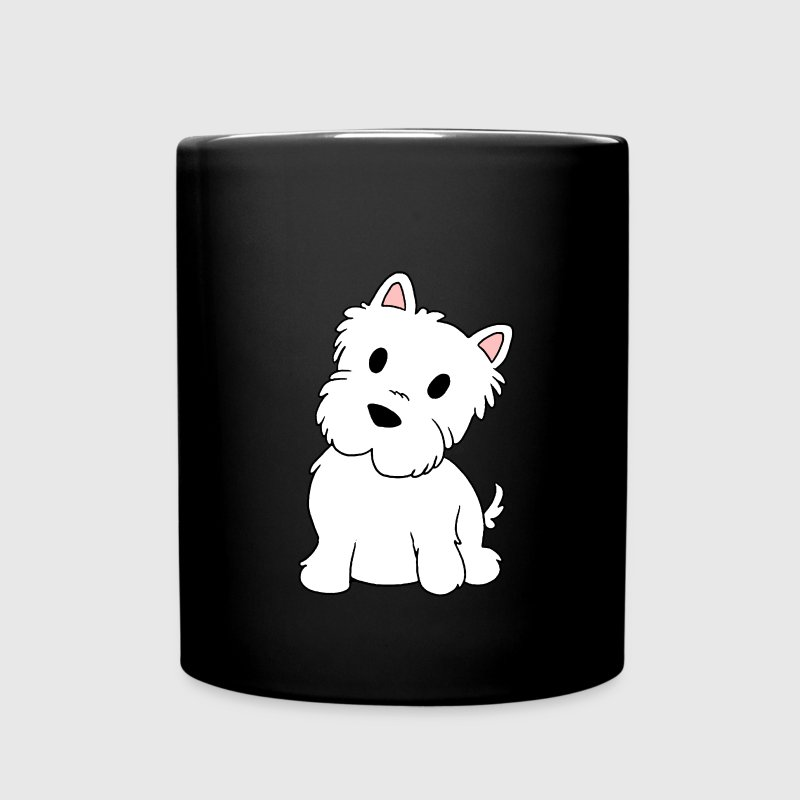 west highland white terrier cartoon - Full Color Mug