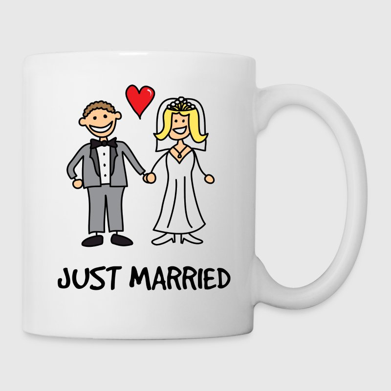 Just Married Newlyweds Cartoon Gift - Coffee/Tea Mug