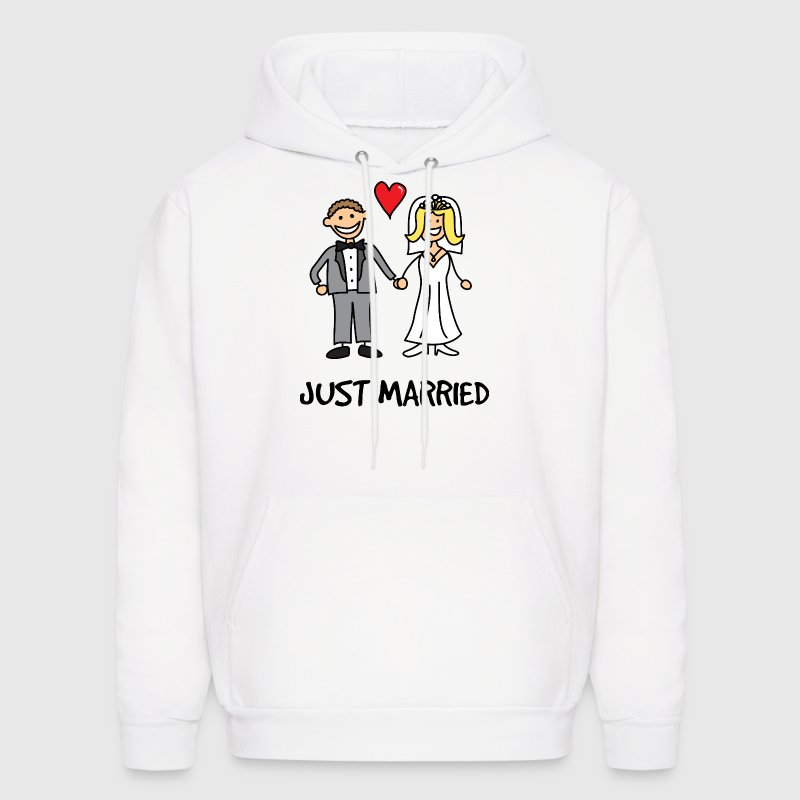 Just Married Newlyweds Cartoon Hoodies - Men's Hoodie