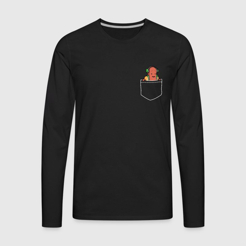 Pocket Hotdog Dancing Long Sleeve Shirts - Men's Premium Long Sleeve T-Shirt