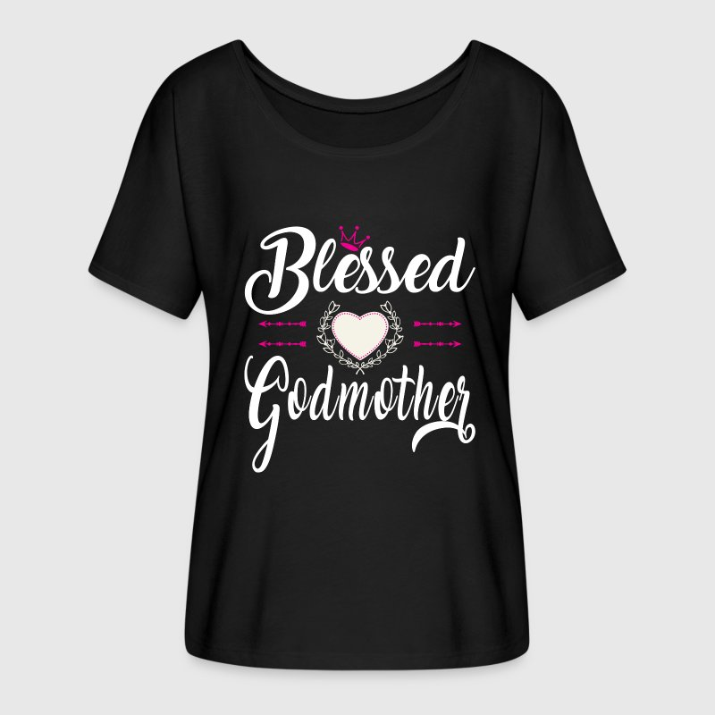 BLESSED GODMOTHER T-Shirts - Women's Flowy T-Shirt
