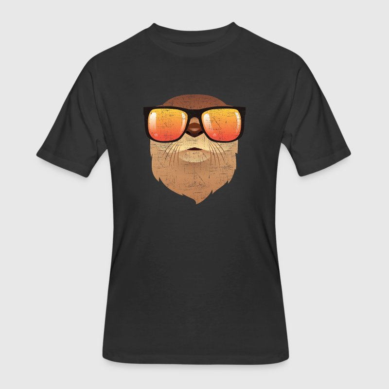 Otter With Sunglasses T-Shirts - Men's 50/50 T-Shirt