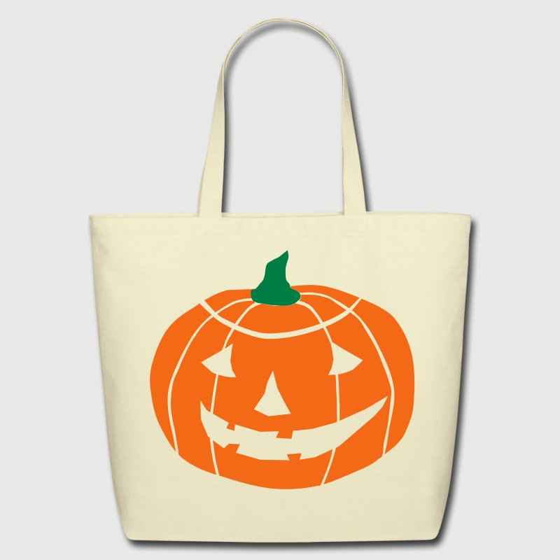2 color Halloween Pumpkin vector Bags  - Eco-Friendly Cotton Tote