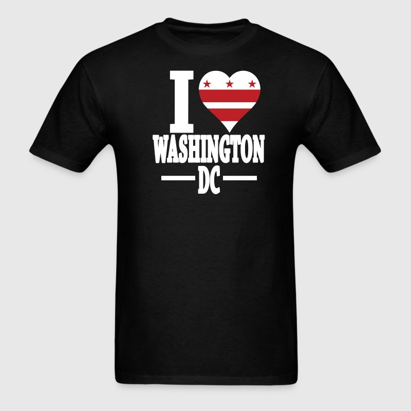 I love Washington DC flag USA t-shirt - Men's T-Shirt