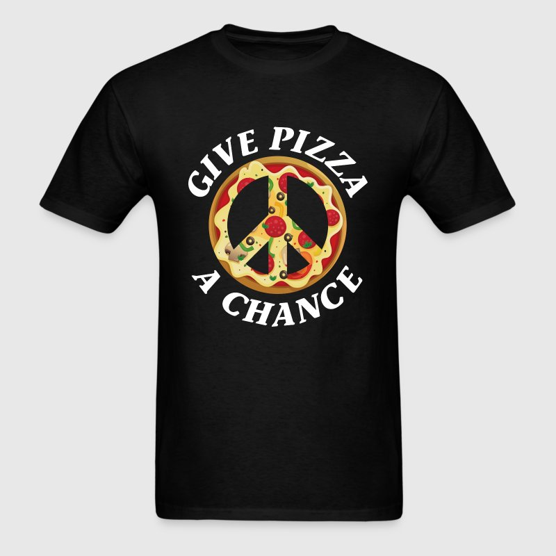 Give Pizza A Chance - Men's T-Shirt