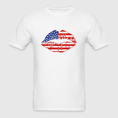 american flag kiss Sportswear - Men's T-Shirt