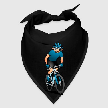 MTB - Mountain biker on his moutainbike Aprons - Bandana