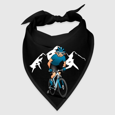 MTB - Mountain biker in the mountains Mugs & Drinkware - Bandana