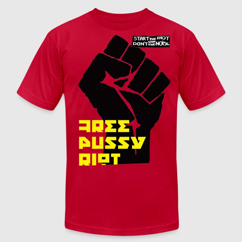 Free Pussy Riot T-Shirts - Men's T-Shirt by American Apparel