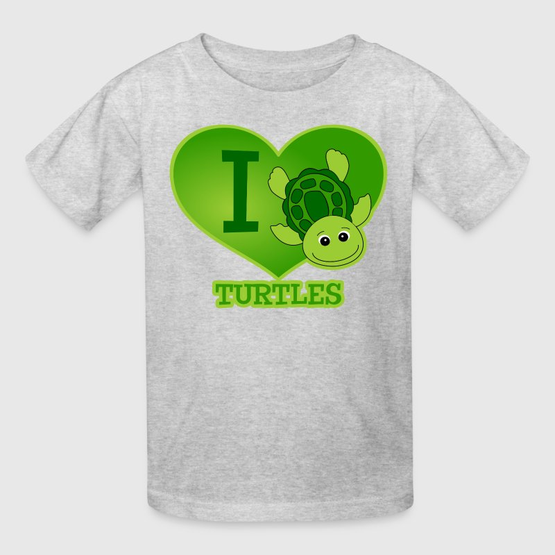 I Love Turtles Kids' Shirts - Kids' T-Shirt