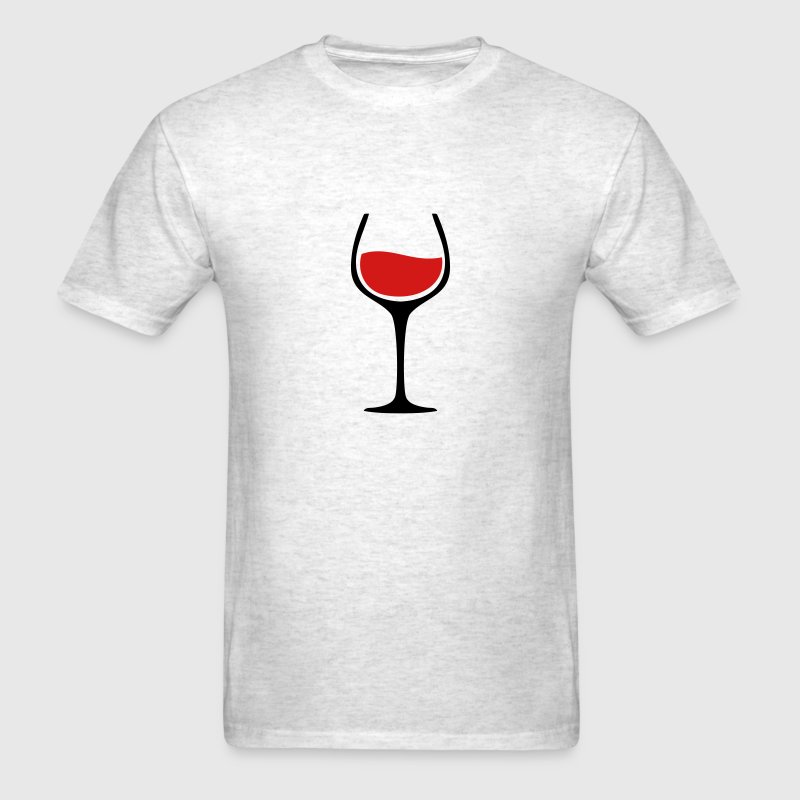 Wine Glass TWO COLOR VECTOR T-Shirts - Men's T-Shirt