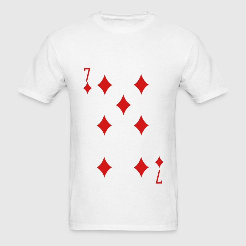 Seven of Diamonds T-Shirts - Men's T-Shirt