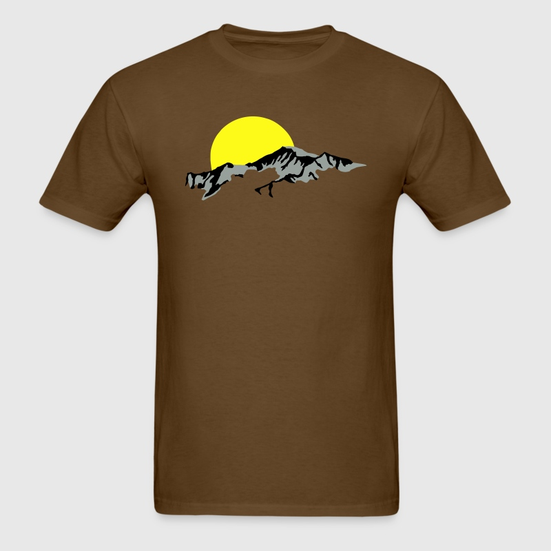 Mountains Sun Set sunset T-Shirts - Men's T-Shirt