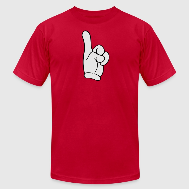 Pointing finger - Men's T-Shirt by American Apparel